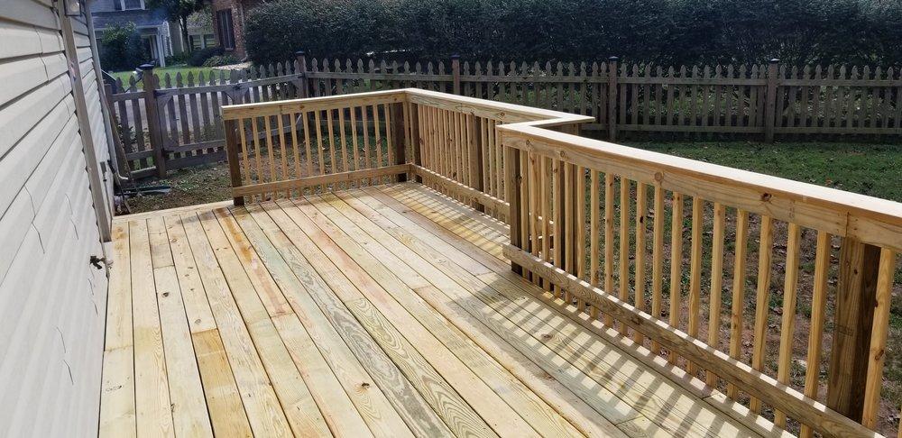 New Wood Deck, Pine ( Johnson City, Tn )