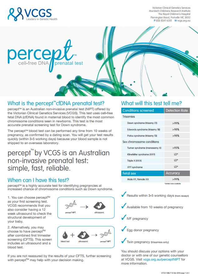 VCGS percept™  - Patient information