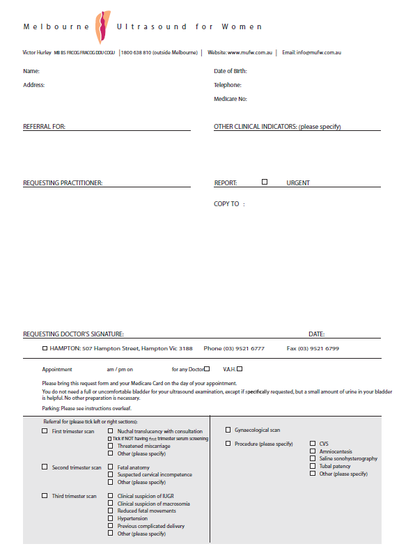 Print your own referral -