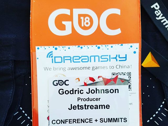 Our Producer/ Creative Director Godric Johnson @ the GDC 2018! 13 consecutive years in attendance. He had a super successful fun trip and learned a lot. Like he always says GDC is the classroom & E3 is recess! Now it's back to work in the lab. #gamedev #indiedev #gdc #jetstreame