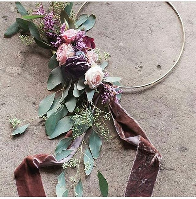 Floral hoop bouquets. ➰➰➰ . . . #roses #wedding #destinationwedding #weddingstylist #floral #bridalbouquet #weddingday #weddinginspo #watchthisspace #flowersofinstagram #velvet #eucalyptus