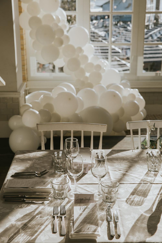 Cascading balloons