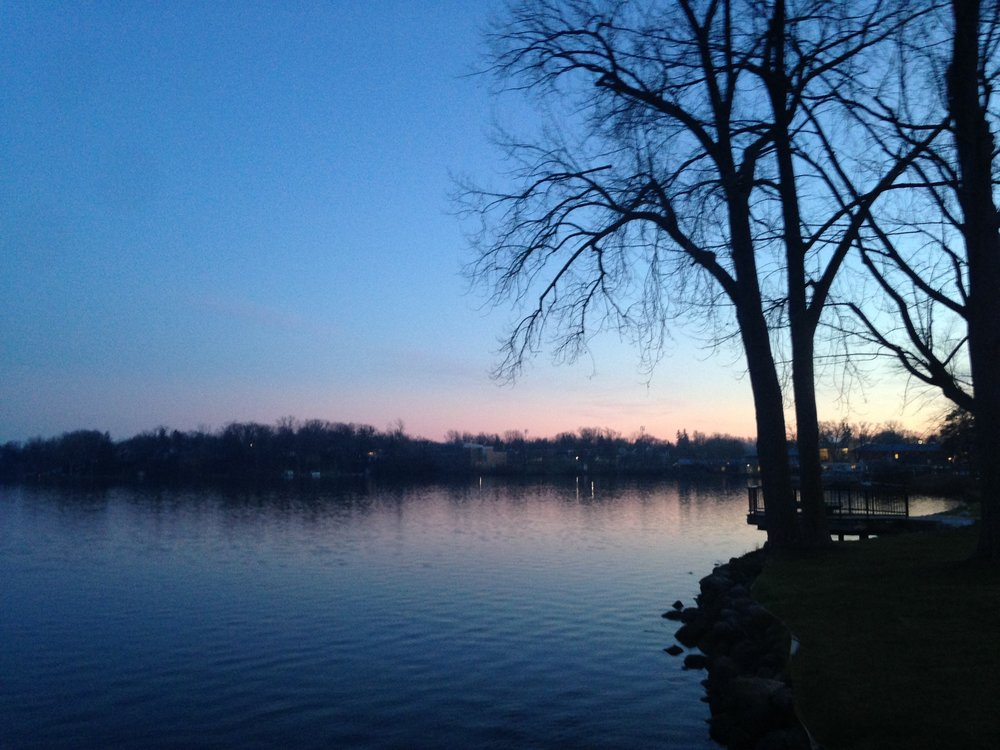 Sunset over Reeds Lake in East Grand Rapids, MIchigan