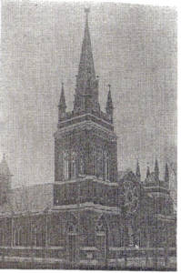 The current church after it's completion in 1895.  The final cost of building the church was about $35,000.  That would be almost $2,000,000 in today's money.