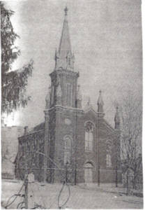 This building, completed in 1862, was considered inadequate after the churches re-united.  It was vacated in June, 1894 and demolished at a cost of $ 450.