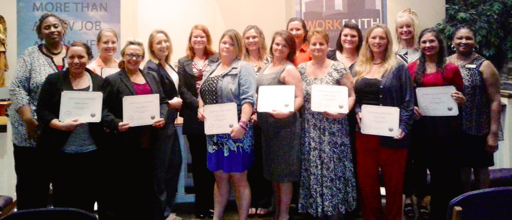 Class 53 participants at their graduation ceremony at The Lovelady Center