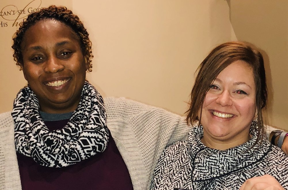 Danielle with her instructor, Tamika Holmes, on graduation day at The Lovelady Center.