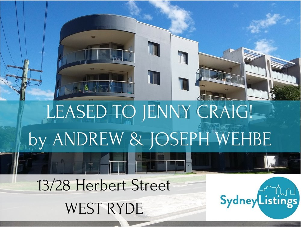 Recently Leased - 13/28 Herbert Street WEST RYDE