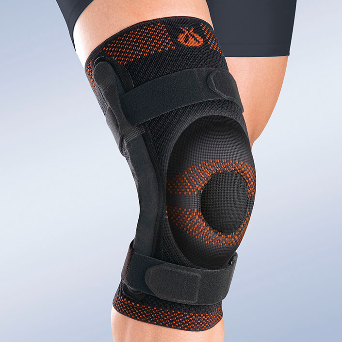 Soft orthopaedic bracing - Soft orthopaedic options assist with:Mild ligament injuries of the knee (ACL, MCL, LCL, PCL)Mild osteoarthritis (OA) of the knee.Knee instabilities.Provide mild compression of swelling.Provide the joint and surrounding tissues with better proprioception and support.  ***(proprioceptors are sensors that provide information about joint angle, muscle length, and muscle tension, which is integrated to give information about the position of the limb in space) Soft orthopaedic options can generally be pulled on, or wrapped around the knee to securing them in place. A properly sized, placed and fitted knee brace should not move around on the leg.