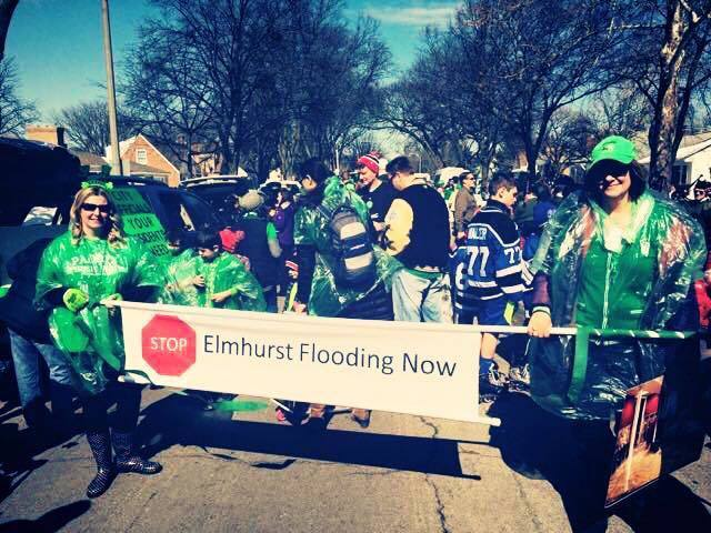 "PHOTO BY KENDRA SCUDDER THOMPSON. Elmhurst, IL ""Stop Elmhurst Flooding Now"""