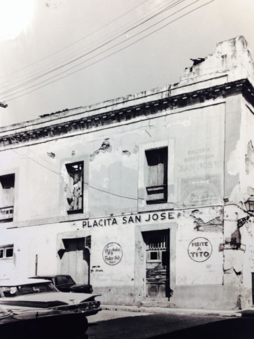 Luna Street façade, San Juan Historic Zone Property files, Institute of Puerto Rican Culture, circa 1950, 106 San José Street -