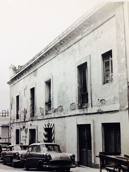 San José Street Façade, Property files from San Juan Historic Zone, Institute of Puerto Rican Culture, circa 1950, 106 San José Street -
