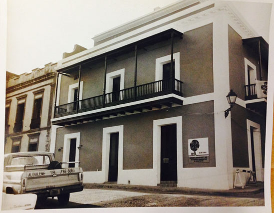 Property files from San Juan Historic Zone, Institute of Puerto Rican Culture, not dated, 106 San José Street -
