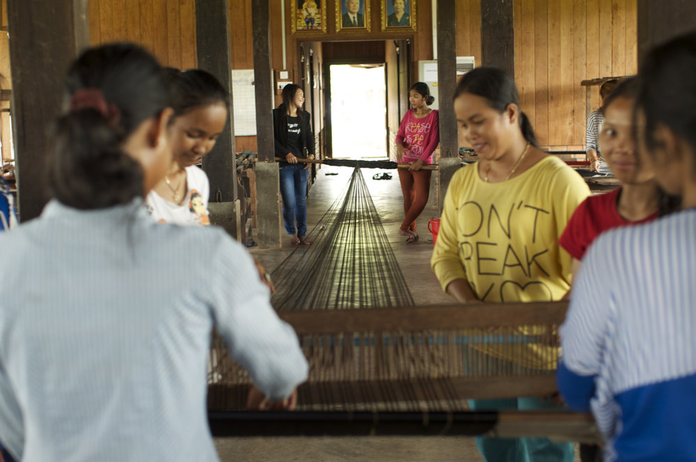 Weavers at Mekong Blue, Cambodia
