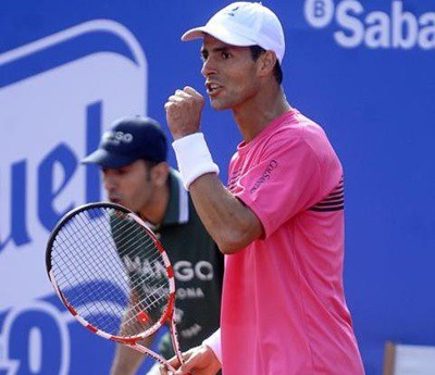 Santiago Giraldo, Colsanitas Team, Won the top 20 Nicolas Almagro in the Semifinals of the ATP 500 Barcelona  - Federacion Colombiana De Tenis
