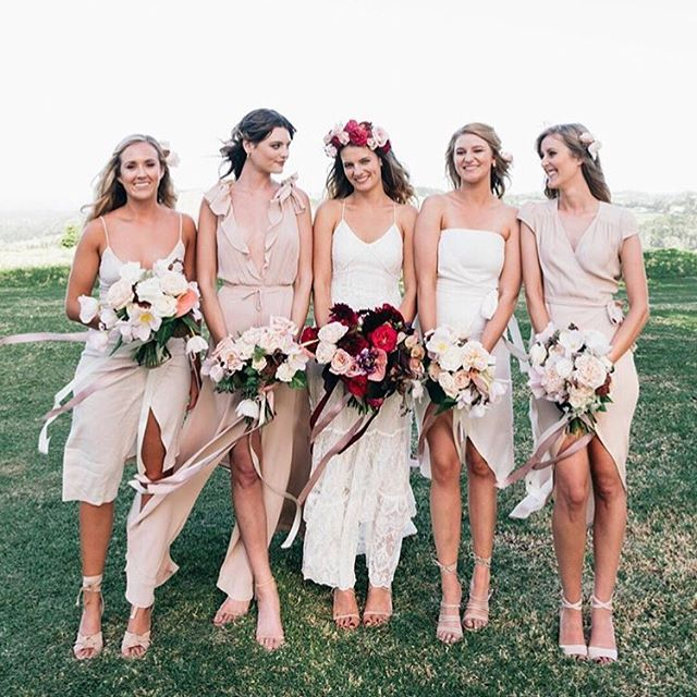 BRIDAL SQUAD | Alex and her maids are everything 🙌🏼💕 BM MUP @bunnyandbohe using @meccacosmetica @maccosmeticsaustralia @narsissist  Hair ~ Pam Murphy