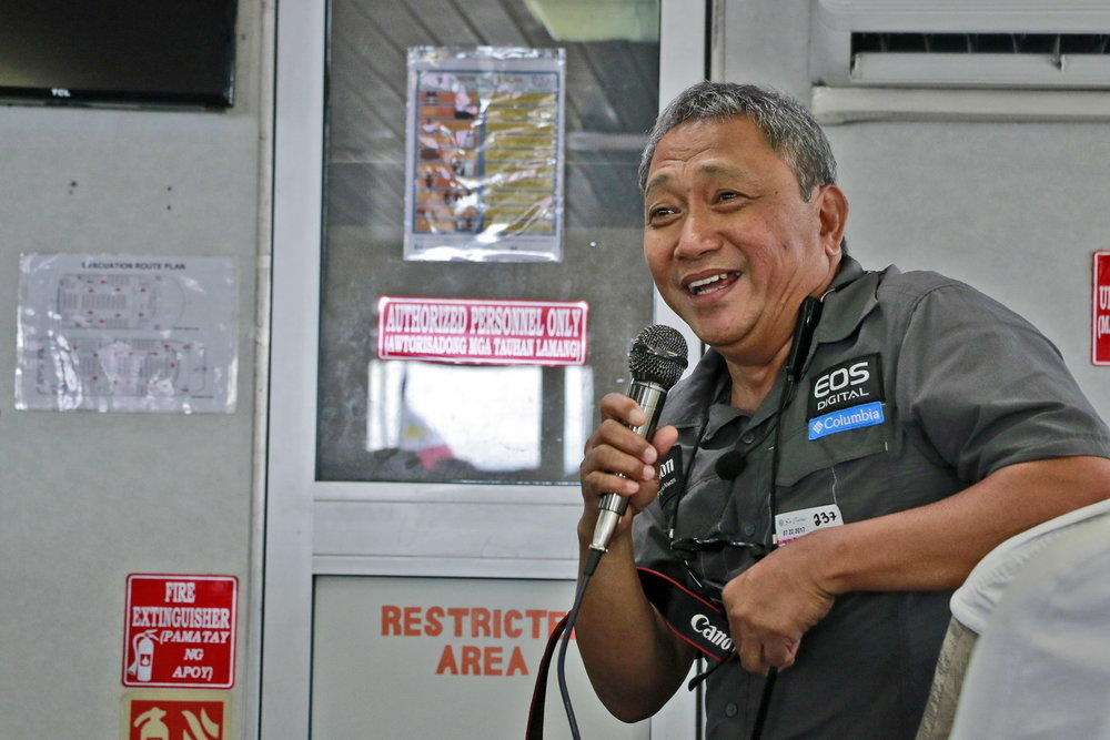 The tour's mentor was Ernie Sarmiento, a renowned photojournalist and a Canon Crusader of Light.