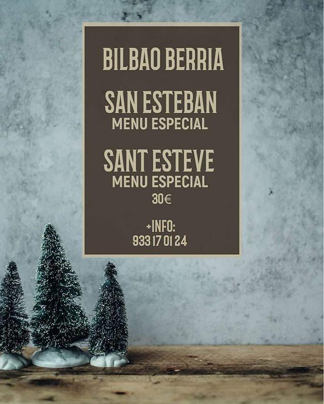 📣 Tenemos un menú especial para el día de San Esteban, vente a celebrarlo con nosotros a Bilbao Berria de plaça nova, junto a la catedral de Barcelona y el mercat de Santa Llúcia. 🎀 ¡Felices fiestas! 🎀 . . #BilbaoBerria #Barcelona #GrupoBilbaoBerria  #BarcelonaCity #TurismoBarcelona #Restaurantes #BCNRestaurantes #BarcelonaRestaurants #SanEsteban #SantEsteve #CelebracionesNavideñas #DondeComerBarcelona #CatedralDeBarcelona #SantaLlúcia #BarrioGótico #IgersBarcelona #Gastronomía #ExperienciasGastronómicas #FelicesFiestas #BonesFestes