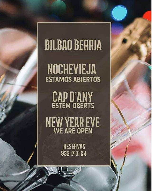 ¿Ya sabéis con quién vais a celebrar la #Nochevieja para acabar el año en la mejor compañía? 🕛🎉🍾🥂🎆 . . #BilbaoBerria #Barcelona #GrupoBilbaoBerria #CatedralBarcelona #Celebraciones #FelizAñoNuevo #NewYearsEve #HappyNewYear #Restaurants #RestaurantesBarcelona #DondeCenarBarcelona  #Food #Foodie #Foodies #IgersBarcelona #CenasParaCompartir #Gastronomía #ExperienciasGastronómicas