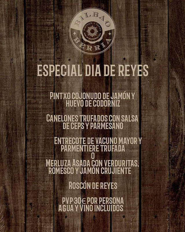 ¡Venid a celebrar con nosotros el día de reyes! Tenemos un menú estupendo hecho con mucha ilusión. 👑👑👑 * * Disponible en Bilbao Berria de Plaça Nova 3, #Barcelona #BilbaoBerria #GrupoBilbaoBerria #RestaurantesBarcelona #BCNRestaurants #ReyesMagos #RoscónDeReyes #Celebraciones #DíasMágicos #DíasEnFamília