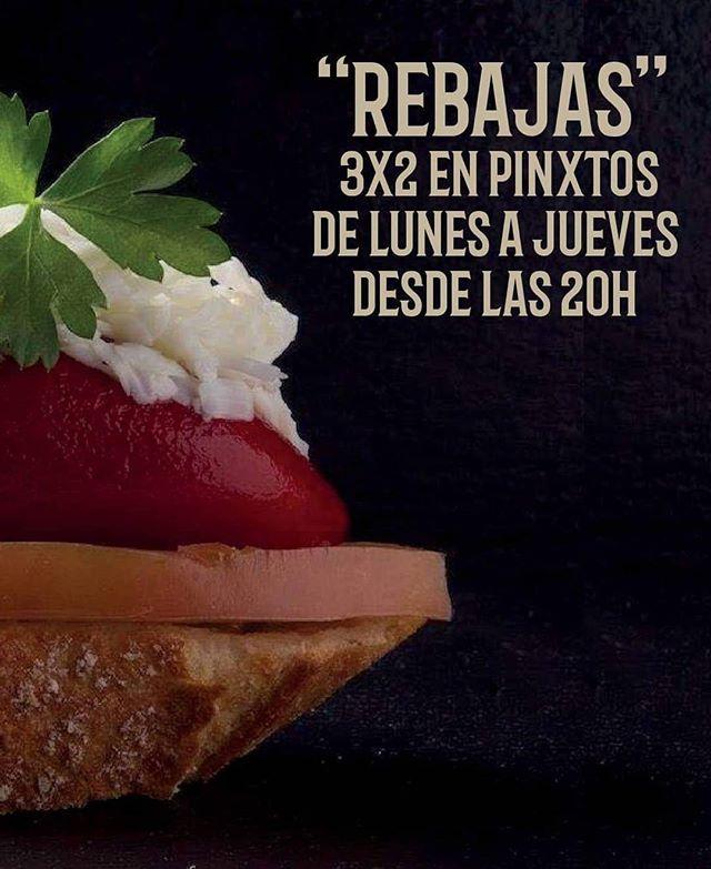 ¡Empieza el 3️⃣X2️⃣ en pintxos! Porque en Bilbao Berria os queremos hacer la cuesta de enero un poco más fácil. ¡No os lo perdáis! * * Promoción válida de lunes a jueves a partir de las 20h. #BilbaoBerria #GrupoBilbaoBerria #Barcelona #Pintxos #Restaurantes #BarcelonaRestaurants #RestaurantesBCN #LaCuestaDeEnero #Rebajas #Food #Foodie #FoodLovers #BestPlan #PintxoPote