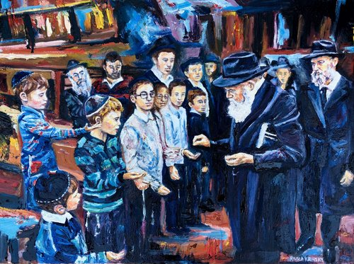 Rebbe with children