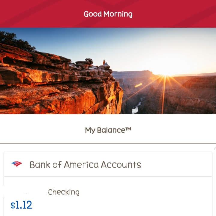 broke bank account balance