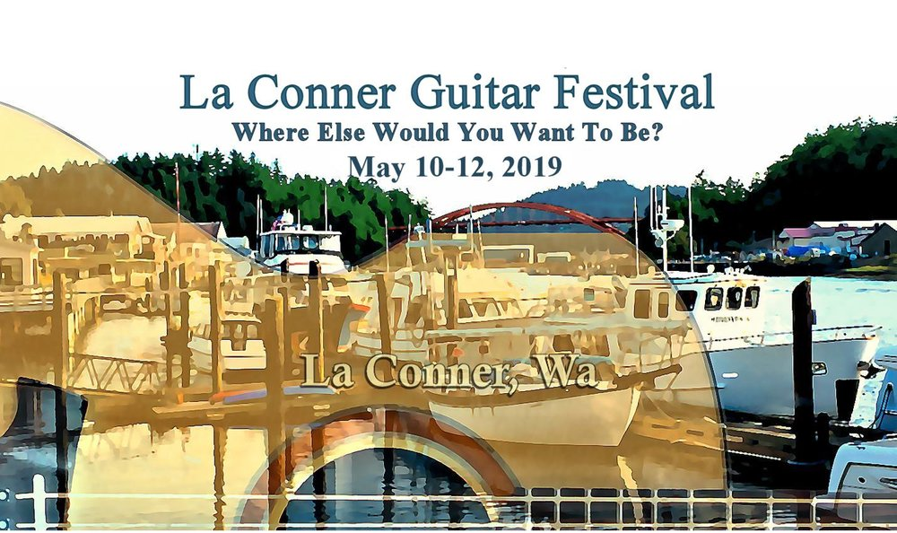 Poster for 2019 La Conner Guitar Festival