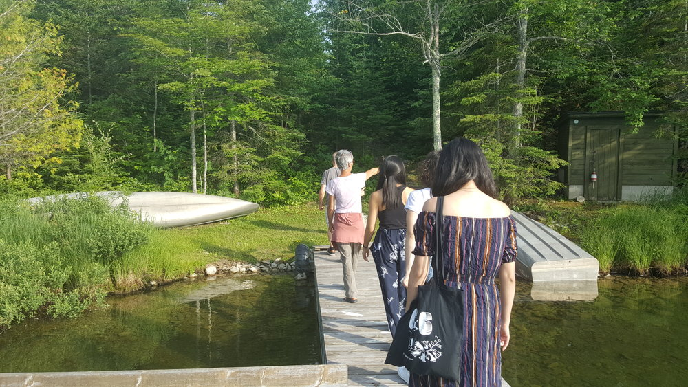 The tour: Welcome (or welcome back) to Tofte! (That's the sauna on the right!)