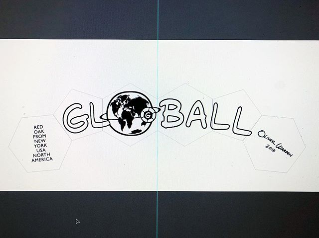 I'm making a maquette for a possible presentation of GLOBALL. Here is a small section of the design, with the logo in my own handwriting. More soon. #wheresgloball #shareadventure #playtheworld #coddiwomple #fernweh #yūgen #safari #peregrine #illustrator #imac #designisinthedetails