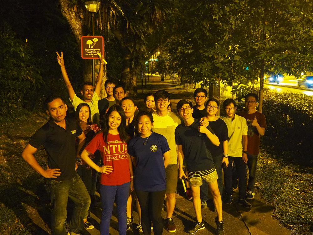 "Hiking, ""Chill-ing"" night activity at Bukit Batok Nature Park!"