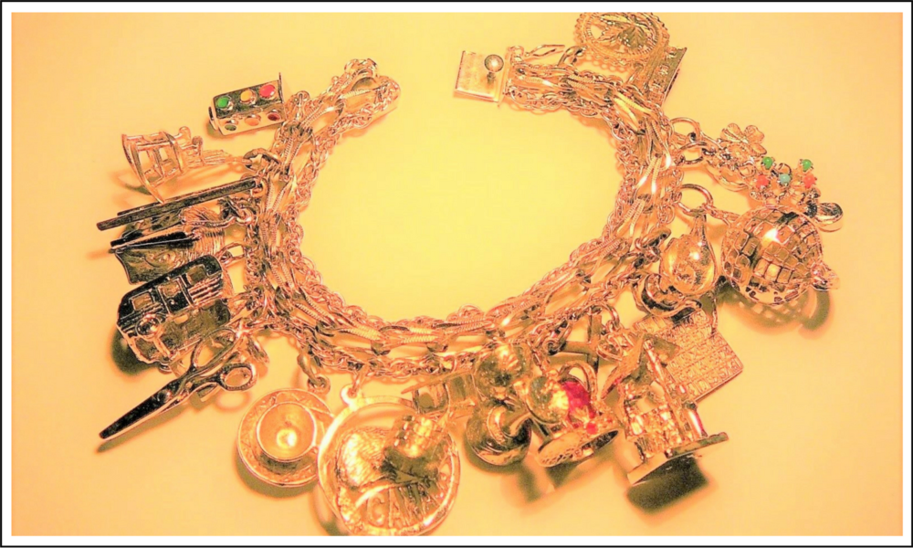 Canadian Silver Charm Bracelet