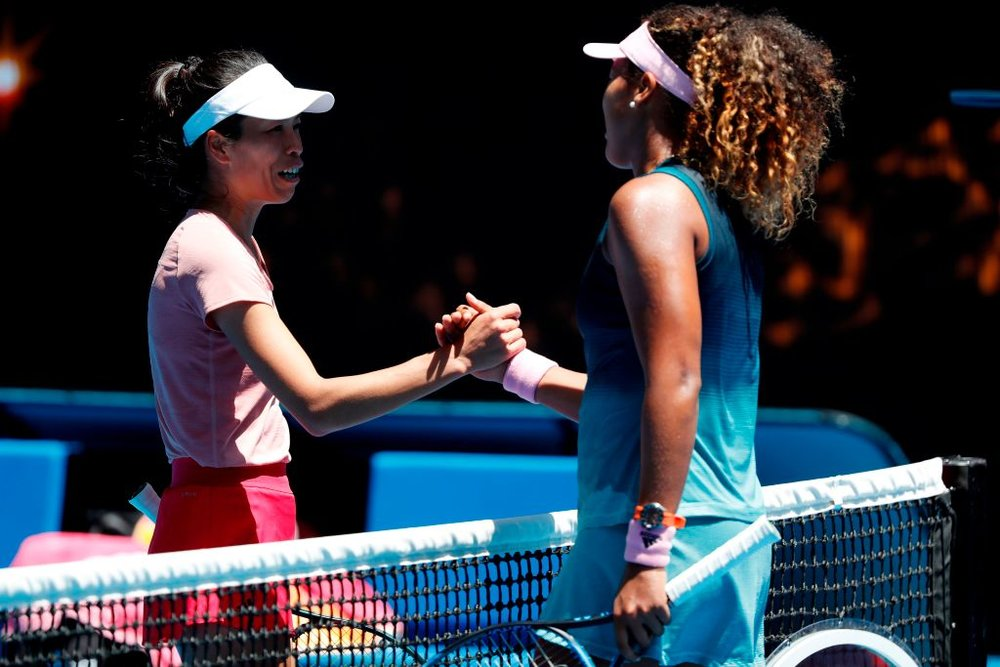 Hsieh Su-Wei and Naomi Osaka