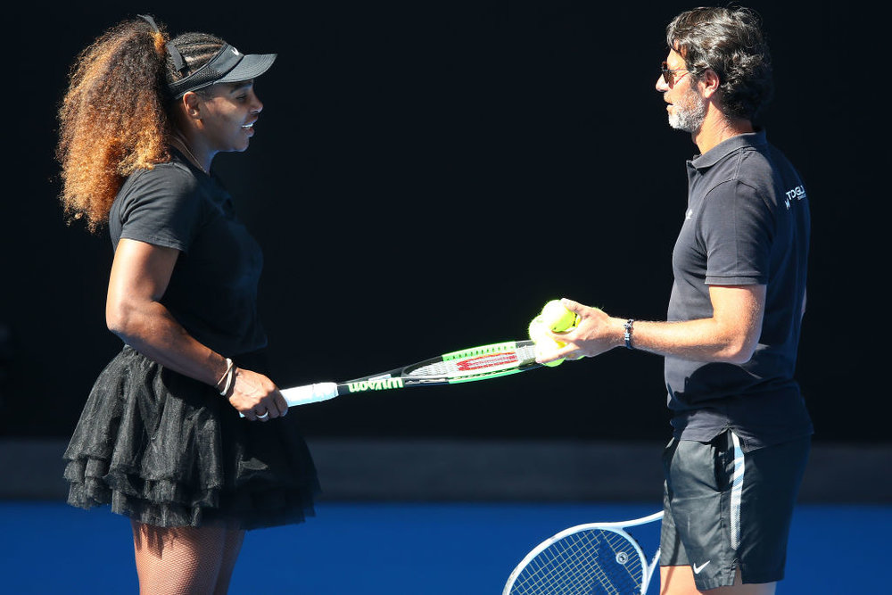 Serena Williams and her coach Patrick Mouratoglou