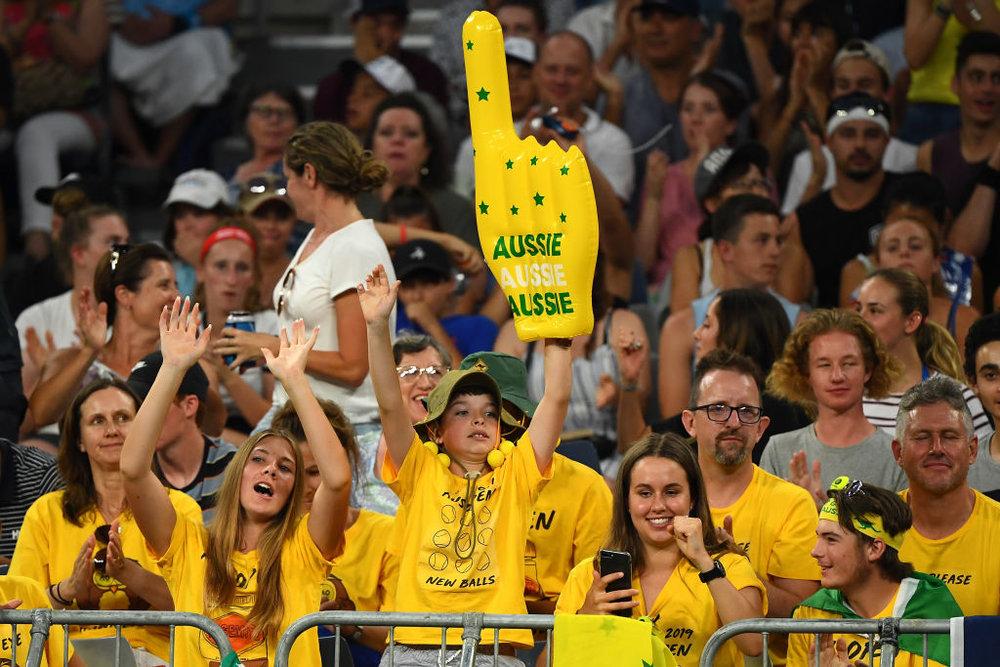 Australian fans show their support