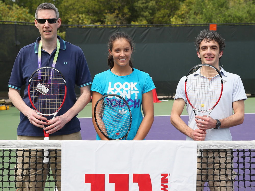 David, Laura and Simon Briggs in 2013