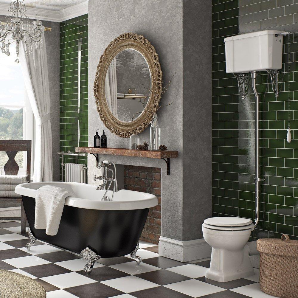 Charmant British Racing Green Tiles Bathroom