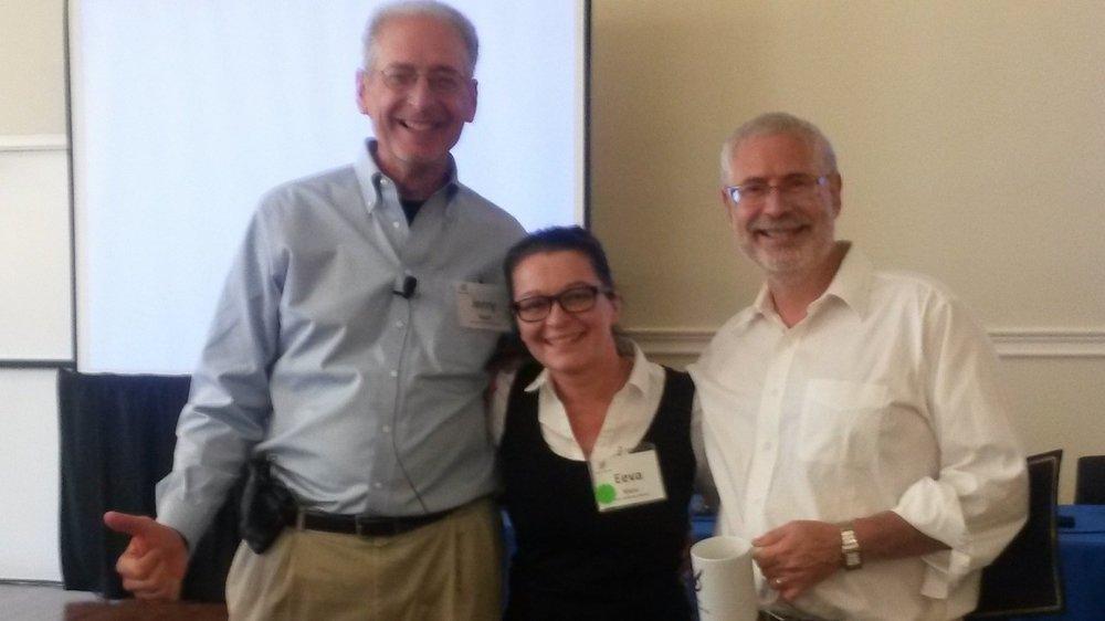 Jerry Engel, Eeva Kiuru and Steve Blank in New York, Sept. 2013
