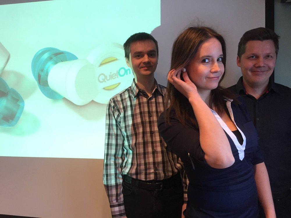 Terveysteknologian startup-yritysten sarjassa esittelyssä QuietOn.