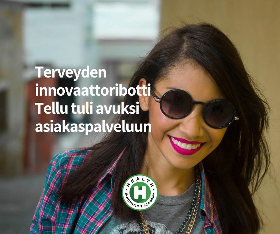 Terveyden innovaattoribotti Tellu tuli avuksi asiakaspalveluun.