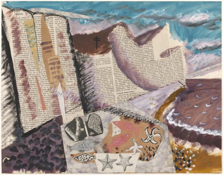 Beach with Starfish, c. 1933-4, Tate Liverpool /  ©  Piper Estate