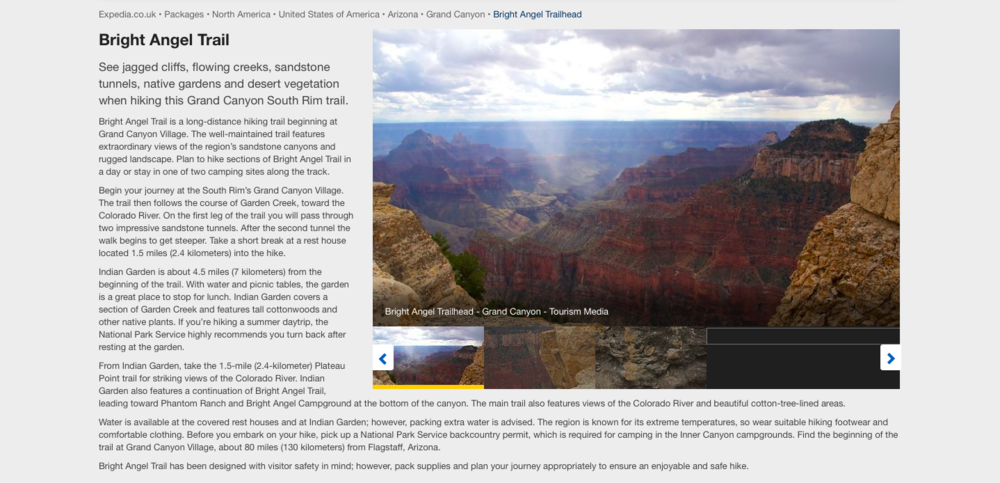 To read the full Grand Canyon guide, click  here .