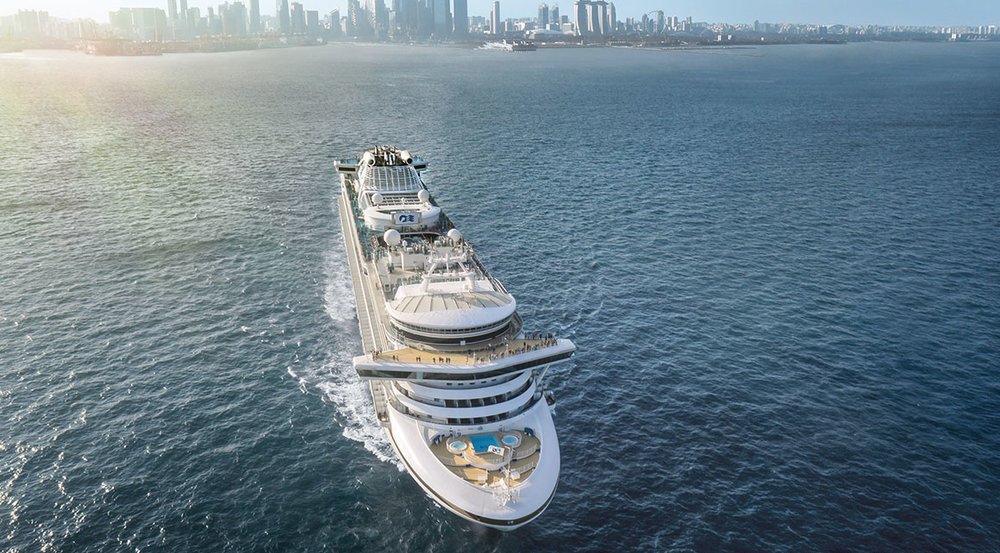 The Sapphire Princess will continue to homeport in Singapore's Marina Bay Cruise Centre.   Photo Credit: Princess Cruises