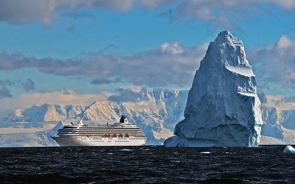 Crystal Serenity in Antarctica.