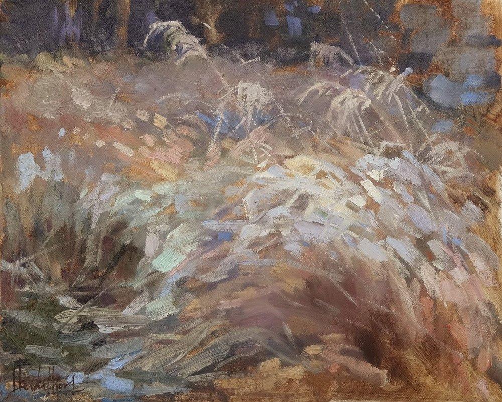 November Meadow, (available at www.taiko.fi/artists/heidi-hjort) 33x41 cm,
