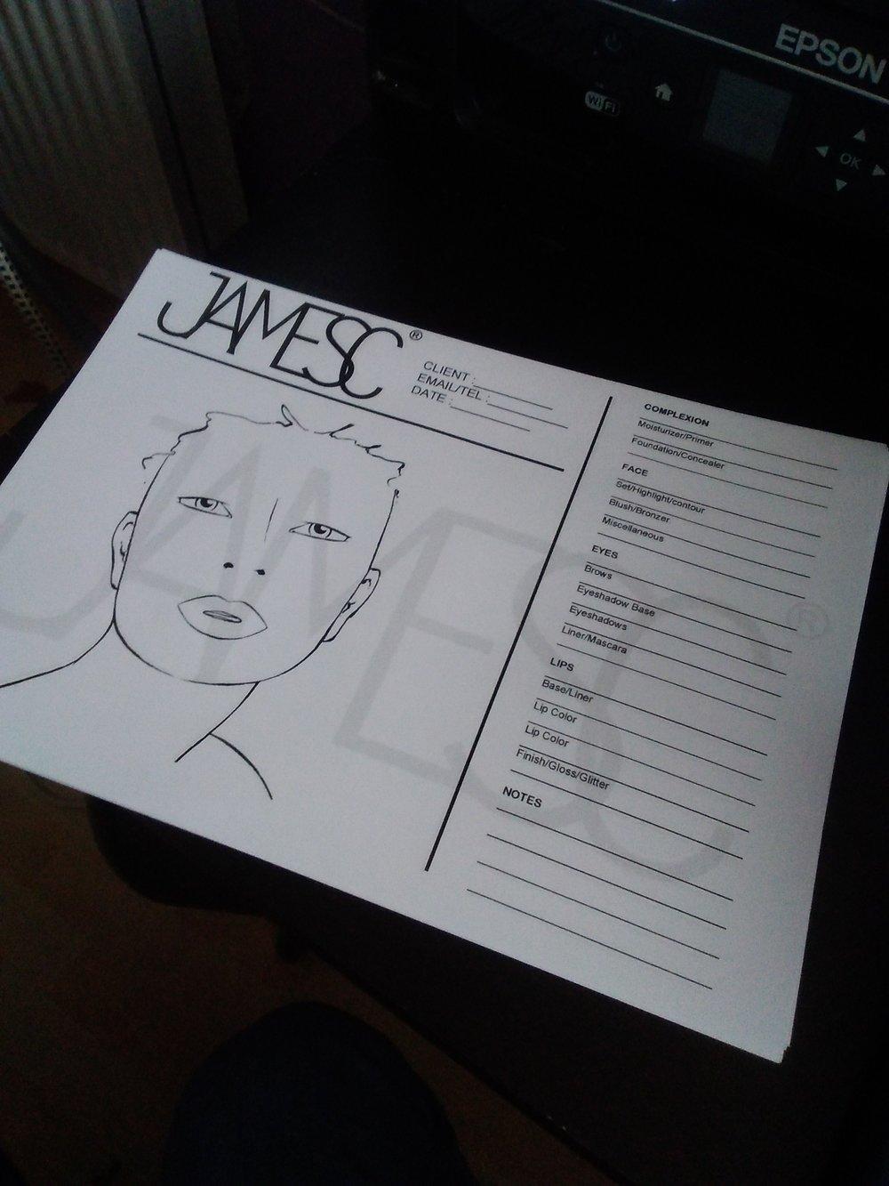 JamesC face chart