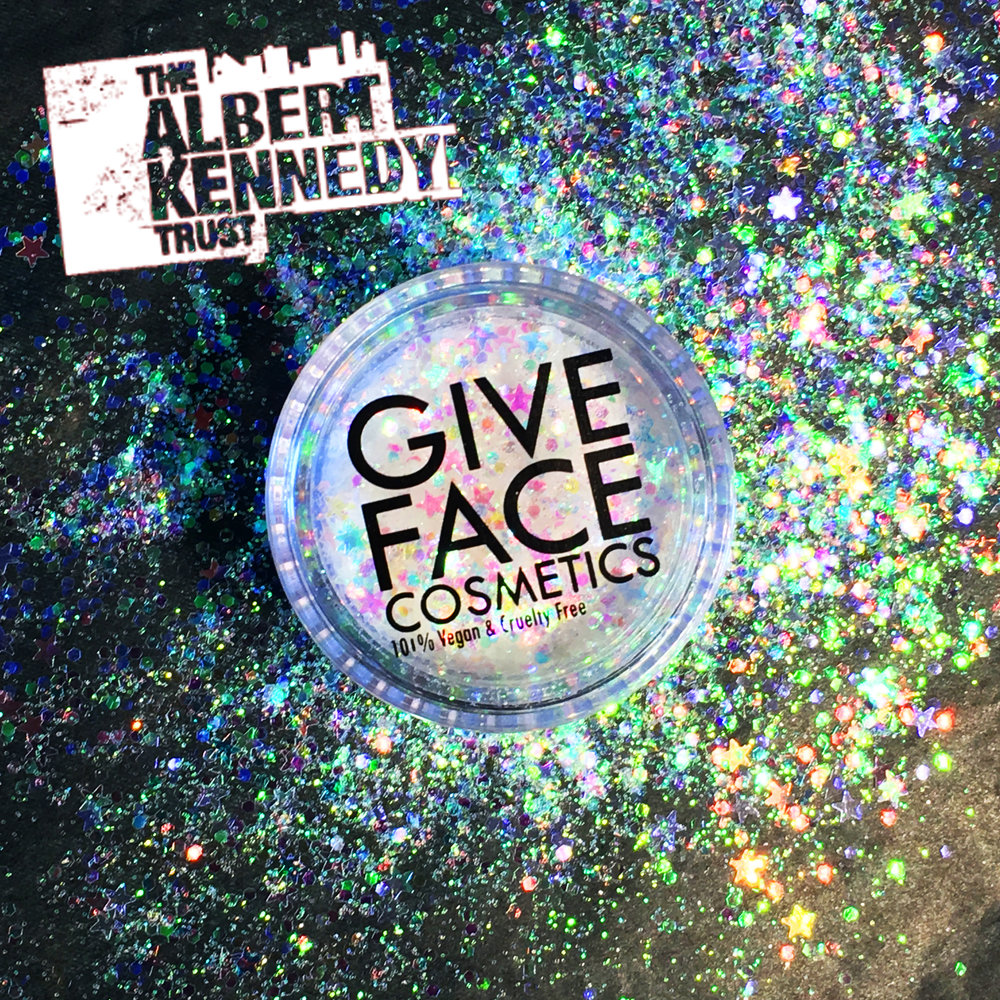 Albert Kennedy trust glitter from Give Face