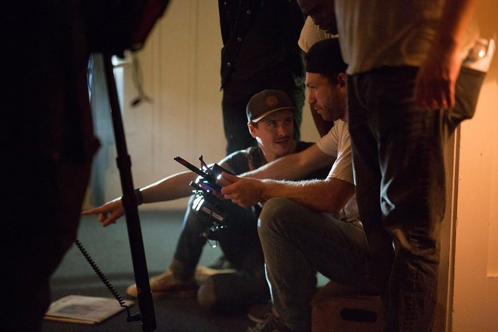 Action Director Ryan Monolopolus on set of Orthus