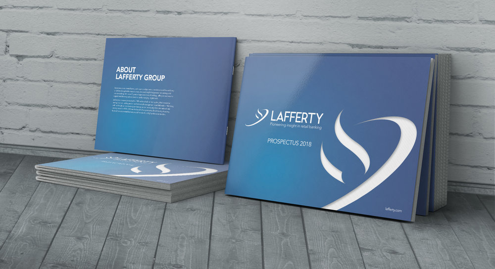 minx design worked with Lafferty to produce a new, fresh and visually appealing corporate identity. All against the clock!