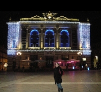I passed the lovely Opera House in Montpellier, France each day on my way to work.